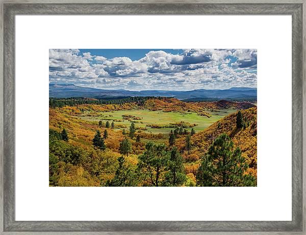 Four Mile Road Peak Color Framed Print