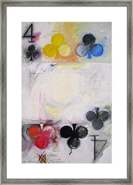 Four Of Clubs 2-52 Framed Print