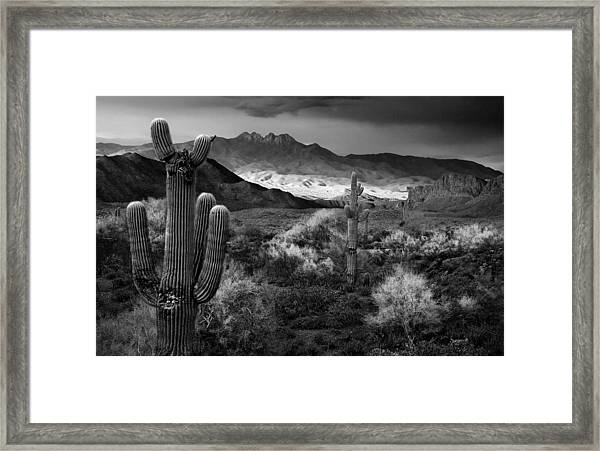 Four Peaks Az Sunset Framed Print