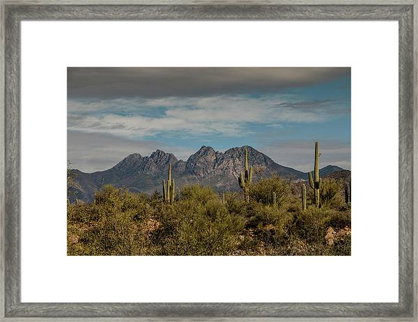 Four Peaks Framed Print