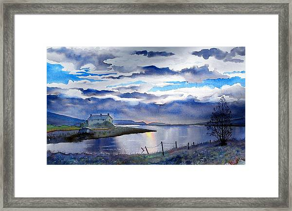 Four Seasons One Day At Grimwith Framed Print
