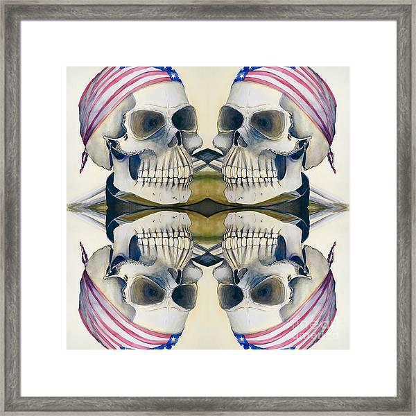 Four Skulls Framed Print