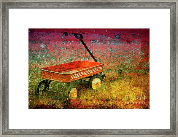 Four Ten To Red Framed Print