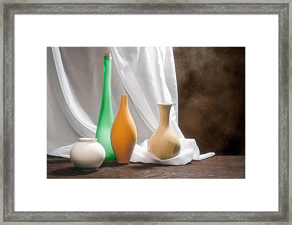 Four Vases II Framed Print