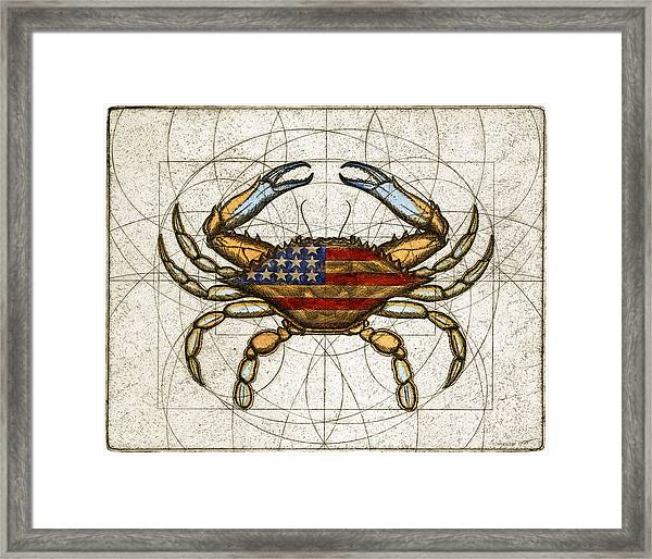 Fourth Of July Crab Framed Print