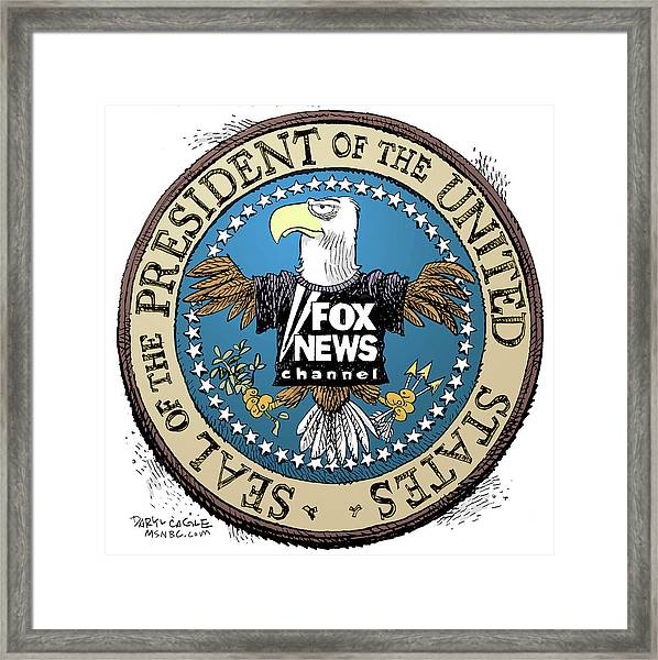 Fox News Presidential Seal Framed Print