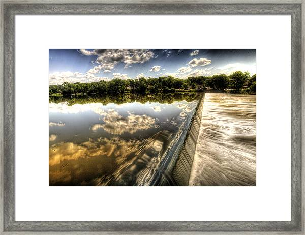 Fox River At The Geneva Dam Framed Print