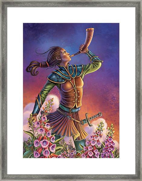 Foxglove - Summon Your Courage Framed Print