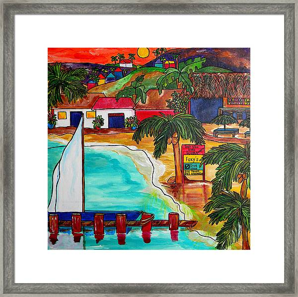 Foxy's At Jost Van Dyke Framed Print