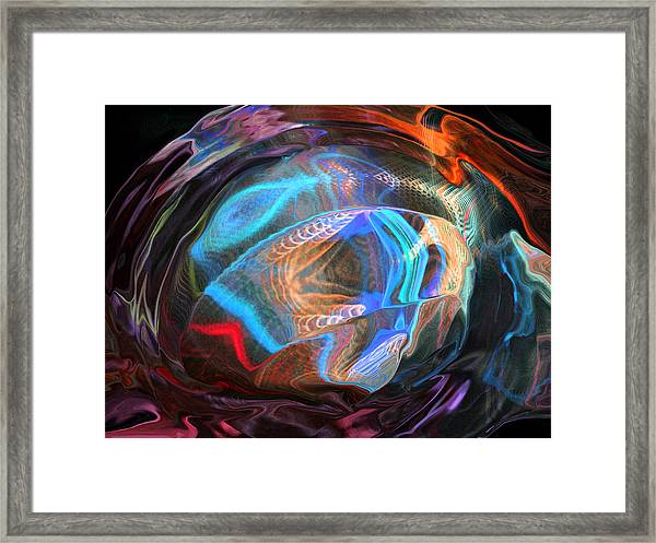 Fractal Ball Framed Print