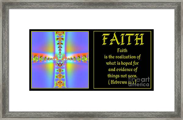 Fractal Faith Hebrews 11 Framed Print