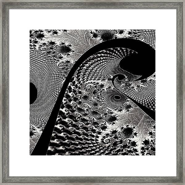 Fractal Japonica Framed Print
