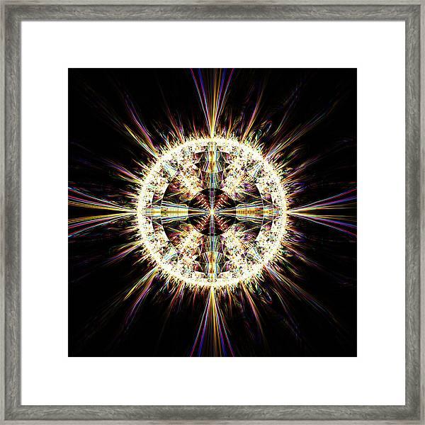 Fractal Jewel Framed Print