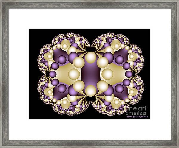 Framed Print featuring the digital art Fractal Pearls by Sandra Bauser Digital Art