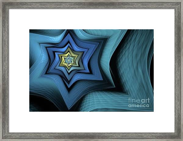 Fractal Star Framed Print