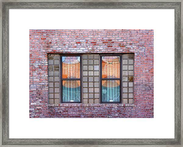 Fracture Reflection Framed Print