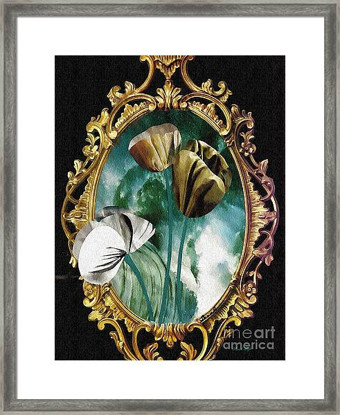 Framed Flowers Framed Print