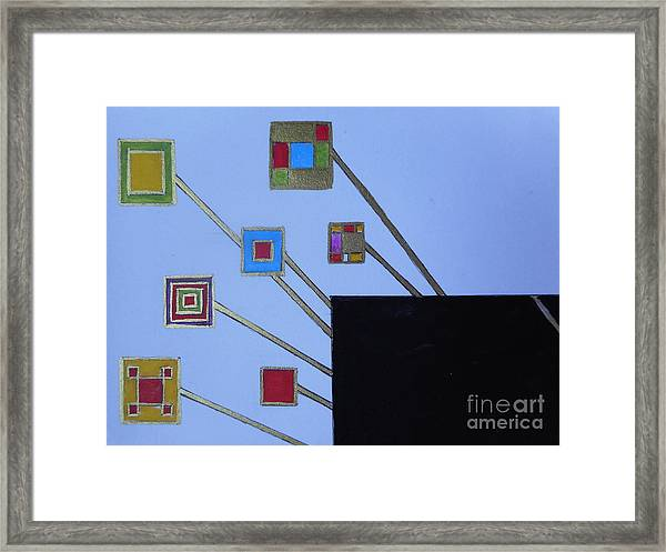 Framed World Framed Print