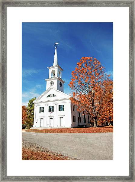 Francestown Meeting Framed Print