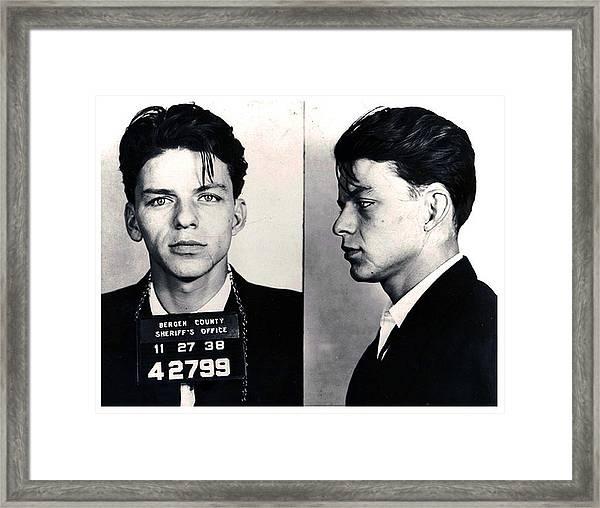 Frank Sinatra Mug Shot Horizontal Framed Print