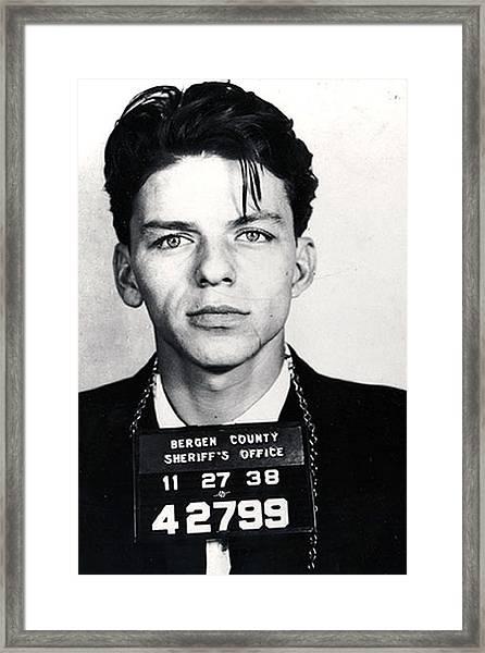 Frank Sinatra Mug Shot Vertical Framed Print
