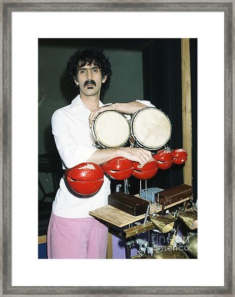Frank Zappa 1982 Framed Print by Chris Walter