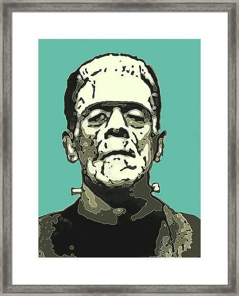 Frankensteins Monster Karloff Comic Framed Print