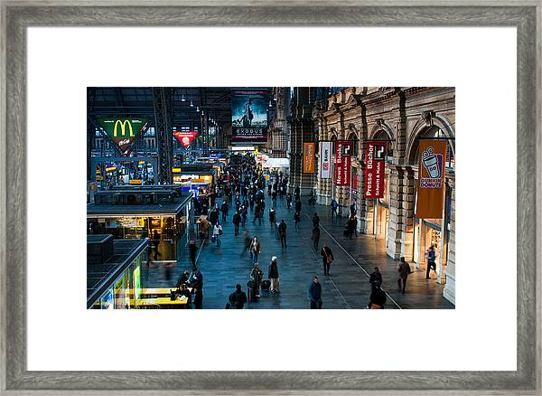 Frankfurt Germany Main Train  Station Framed Print