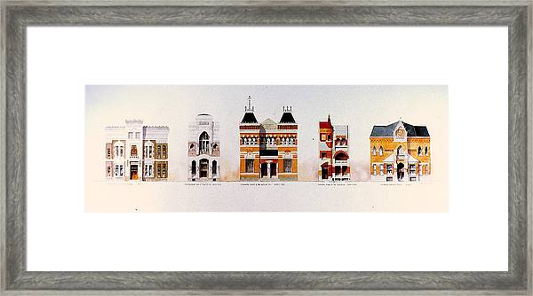 Frank's Banks Framed Print