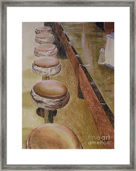 Franks Deli Framed Print
