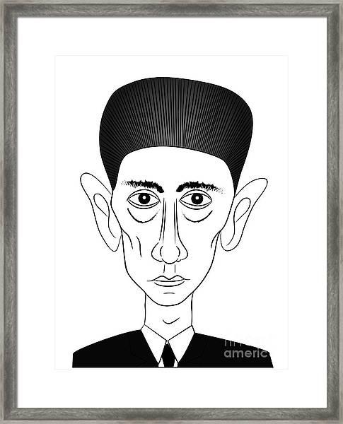 Franz Kafka Framed Print