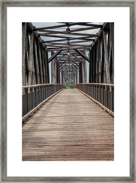 Fraser River Footbridge Framed Print