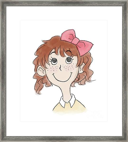 Freckle Face Coco Framed Print