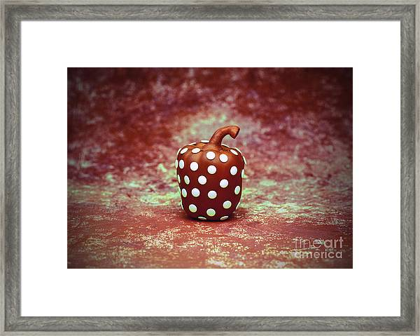 Freckled Bell Pepper Framed Print