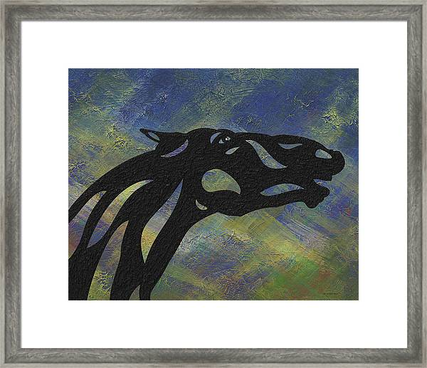 Fred - Abstract Horse Framed Print