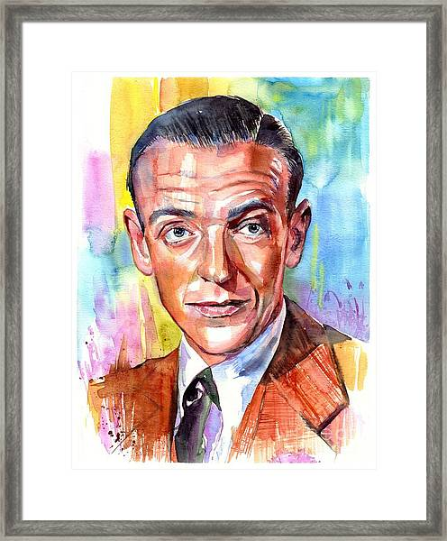 Fred Astaire Painting Framed Print