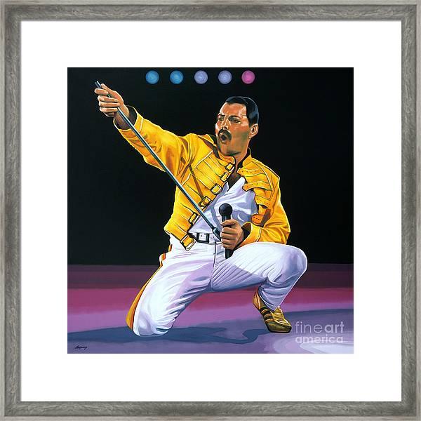 Freddie Mercury Live Framed Print