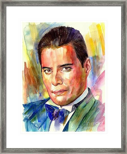 Freddie Mercury Painting Framed Print
