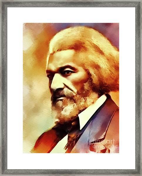 Frederick Douglass, Literary Legend Framed Print