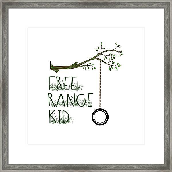 Free Range Kid Framed Print