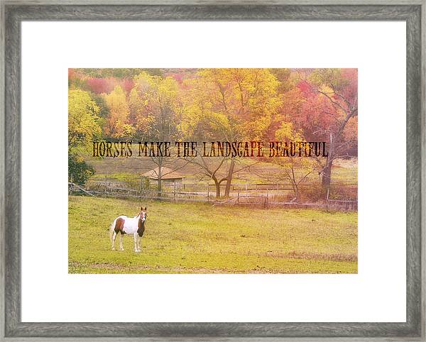Freedom Farm Quote Framed Print