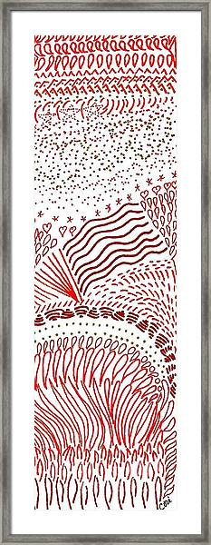 Freedom In Red Framed Print