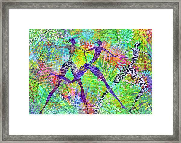 Freedom In The Rain Forest Framed Print by Jennifer Baird