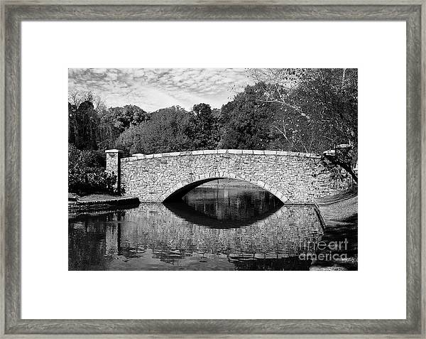 Freedom Park Bridge In Black And White Framed Print
