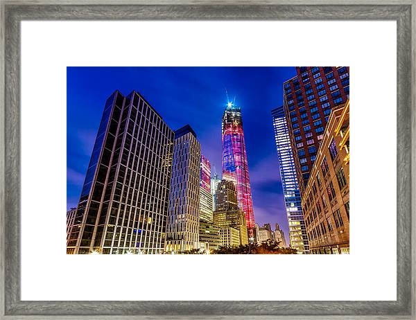 Freedom Tower From The Tribeca Bridge. Framed Print