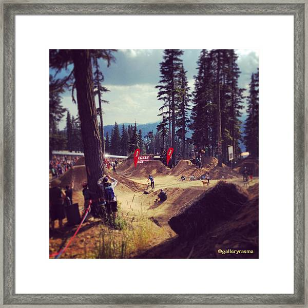 Freestyling Mtb Framed Print