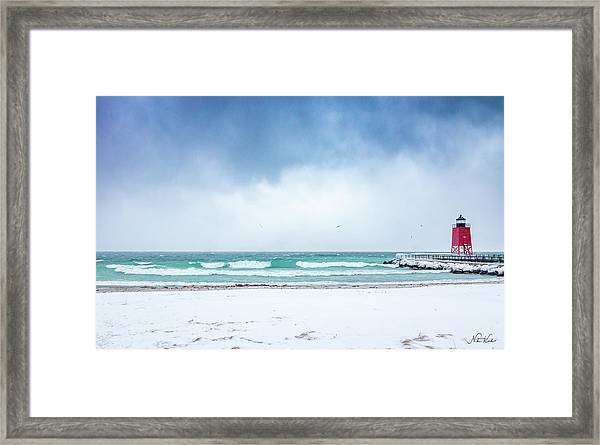 Freezing Storm Framed Print