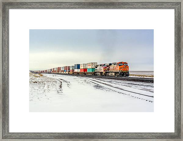 Freight Train Framed Print