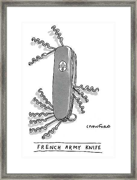 French Army Knife Framed Print