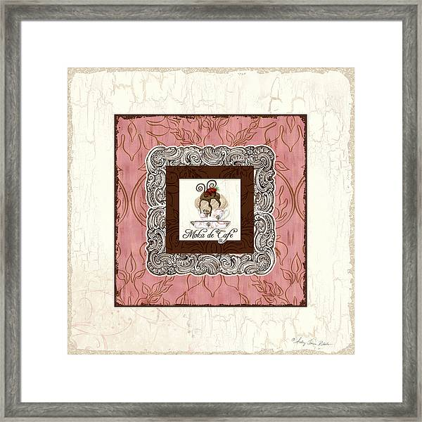 French Cafe Mocha - Moka De Cafe Framed Print